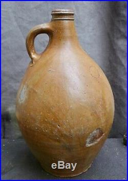 Nice quality 17th Century German Rearen stoneware Bellarmine found in Amsterdam