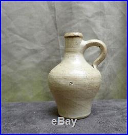 Nice quality 17th Century German Rearen stoneware oil jug found in Rotterdam