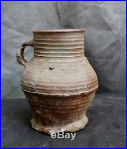 Nice quality German Siegburg stoneware beer jug 15th. Century. Utrecht