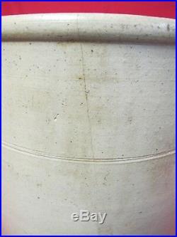 Rare ANTIQUE 5 Gallon STONEWARE CROCK Cobalt Eagle Patriotic SALT GLAZED POTTERY