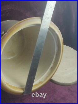 Rare Antique 19th Century Stoneware Crock & Lid Caledonian Pottery Glasgow