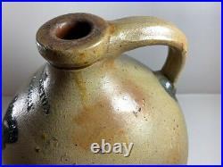 Rare Antique Bennington Factory Jug Norton Pottery Vermont Stoneware Circa 1820