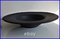 Rare Antique MID 18th Century Wedgwood Black Basalt Broad Rimmed Large Bowl