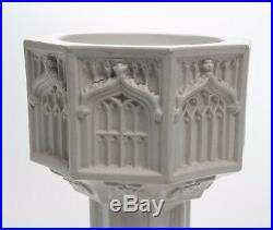 Rare Antique Minton Stoneware Victorian Gothic Travelling/Pocket Font c1877