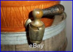 Rare Antique Watt Pottery Stoneware Ceramic Fleetwood Iced Tea Crock Barrel USA