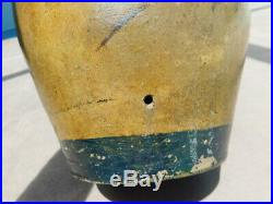 Rare Antique Western Native American Primitive Stoneware Advertisemt Whiskey Jug