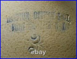 Rare Haxstun, Ottman & Co Fort Edward Ny American Antique 3 Gl Dec Stoneware Jug