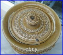 Rare Vintage Grosvenor Pottery Two Tone Coffee Stoneware Storage Jar & LID