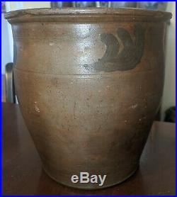 Rare Virginia Stoneware Crock Attb Suter New Erection Pottery Rockingham County