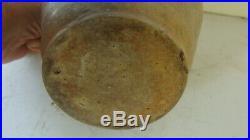 Rare diminutive saltgalze stoneware jug c 1850 w. Cobalt Chelsea Massachusetts