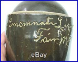 Rare fairmount advertising stoneware / cincinnati liquor scratch jug half gal