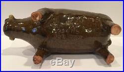 Reggie Meaders Stoneware Boar / Pig Cleveland Georgia / (1916-2009) Southern