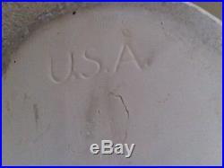 Robinson Ransbottom Pottery Stoneware Crock Blue 3 Gallon Crown U. S. A