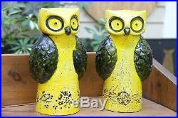 Rosenthal Netter MCM mid century MODERN owl stoneware pottery BITOSSI ITALY arts
