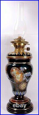 Royal Doulton Oil Lamp Florence Barlow Paraffin Light Circa 1900