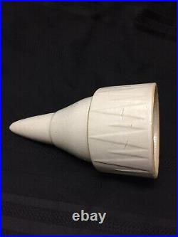 Ruckels White Hall Illinois Stoneware Pottery RARE Cemetary Vase White