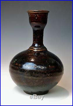 SUPERB ANTIQUE SONG DYNASTY CHINESE BOTTLE VASE Rare Jian Yao Stoneware Pottery
