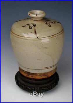 SUPERB ANTIQUE SONG YUAN DYNASTY CHINESE CIZHOU VASE Rare Stoneware Pottery