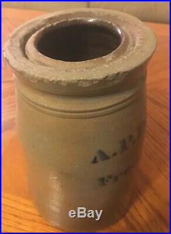 Scarce Donaghho Fredericktown PA Antique Stoneware Crock Pottery 8 Canning Jar