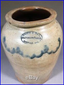 Smith Day Norwalk Connecticut Stoneware Pottery Cobalt Crock