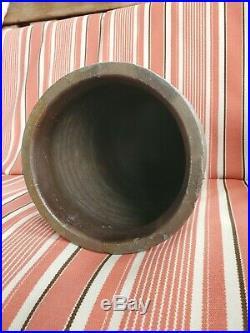 Solomon Bell Cobalt Decorated Stoneware Pottery Crock Strasburg Va 1 gallon
