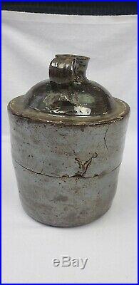 South Carolina Edgefield District Baynham Stacker Jug Pottery JGB Stoneware AsIs