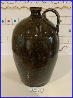 South Carolina Pottery Jug Landrum/Stork WithKey Mark-Double Slashes Stoneware