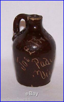 Stoneware Miniature Sample Vinegar Jug'Jos L Friedman', Paducah, Ky. Vinegars