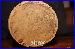 Stoneware crock, salt glaze, antique pottery, primitive