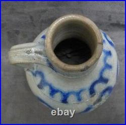 TOP quality 17th Century German stoneware jug with 2 lions no Bellarmine