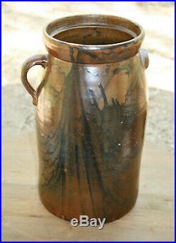 Texas Pottery Stoneware 4 Gallon Antique Crock Tex TX Awesome Glaze! Rusk Co