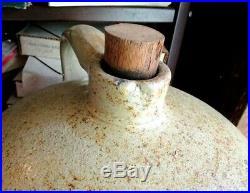 Very Rare 10 Gallon Beehive Salt Glazed Stoneware Jug Similar To Macomb Pottery