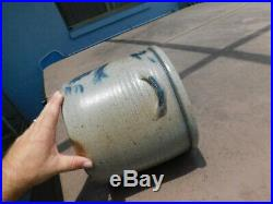 Vintage 1983 2 Gallon Stoneware Horse Crock Rowe Pottery Works Camebridge WI