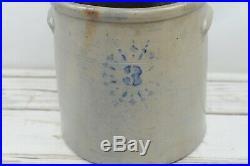 Vintage/Antique Pottery Stoneware 3 Gallon Glazed Crock VG Condition