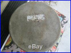 Vintage Antique Stoneware Jug Salt Glaze Cobalt Blue Flower Beehive Pattern