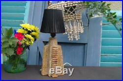 Vintage Bernard Rooke Studio Pottery Table Lamp 1960's Brutalist Mid Century Art