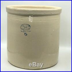 Vintage Love Field Potteries 5 Gallon Stoneware Pickling Crock Dallas Texas