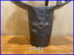 Vintage MCM Brutalist Weed Pot Signed Flint Circa 1968
