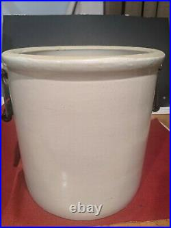 Vintage Red Wing MN Potteries 5 Five Gallon Stoneware Pottery Crock With Handles
