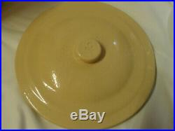 Vtg Crock Stoneware 2 gal WITH LID Homemade Pickles 1 cent As seen on Friends