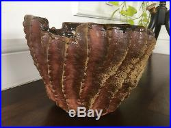 Vtg Mid Century Earthgender Cressey Stoneware Era Ceramic Studio Pottery Planter
