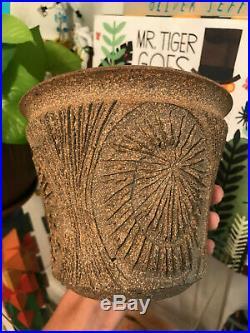 Vtg Mid Century Earthgender Robert Maxwell Cressey Stoneware Planter Pottery