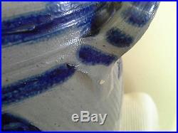 WESTERWALD Antique German Cobalt Grey Stoneware Salt Glazed Crock 10