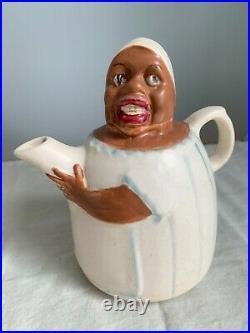 Weller Mammy Line Pitcher Art Pottery Stoneware Antique Vintage Figurine