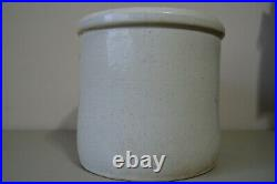 Western Stoneware Crock 4 Gallon VIntage Pottery Leaf Monmouth IL USA Heavy