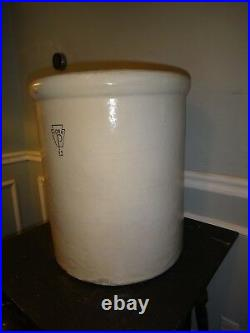 XL 12 Gallon Antique Stoneware Crock York POttery PA Jug Salt Glazed 18x16