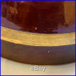 XXXL Large 15 Stoneware Edgefield Alkaline Glaze Mixing Bowl Pottery Yelloware